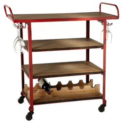 Farmhouse Bar Carts by Ganz USA LLC