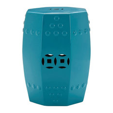 Comply Ceramic Stool, Teal, 35x35x46 cm