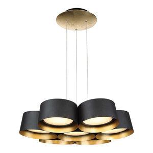 """Modern Forms Marimba LED Chandelier, Gold Leaf, 24"""""""