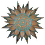 """Regal Arts & Gifts - Regal Patina Bloom Wall Decor 34"""" - This patina bloom no.10796 Is a great piece to hang in your home or outdoor living area in very popular antique colors."""