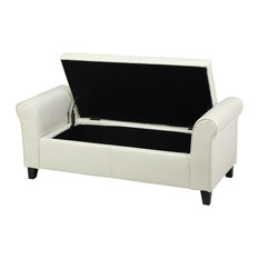Shop Striped Storage Arm Bench Ottoman Products on Houzz
