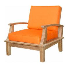 Brianna Deep Seating Armchair With Cushion, Navy