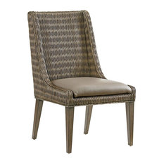 tommy bahama home tommy bahama home cypress point brandon woven side chairs set of - Woven Dining Room Chairs