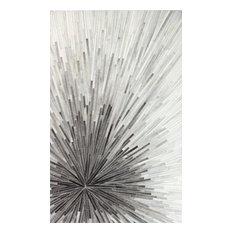 Bashian Mason Area Rug, Gray, 5'x8'
