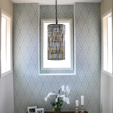 Bold wallpaper gives stylish focal point
