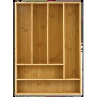 Heim Concept Organic Bamboo 6-Slot Organizer, Utensils Utility Storage