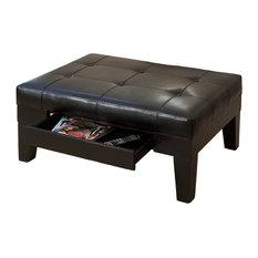 Swell Large Coffee Table Ottoman Footstools Ottomans Houzz Inzonedesignstudio Interior Chair Design Inzonedesignstudiocom