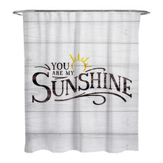 "Oliver Gal ""My Sunshine"" Shower Curtain, 71""x74"""
