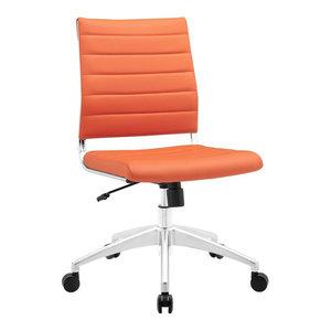 Jive Armless Mid Back Office Chair, Orange