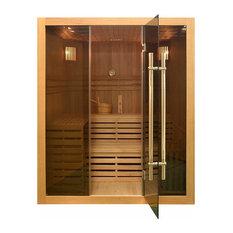 Aleko 4 Person Hemlock Wood Sauna SEA4VAH With 4.5 KW ETL Heater