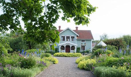 Casas Houzz: Una casa de campo en Suecia con un jardín de ensueño
