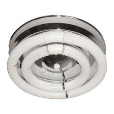 Open Circline Ceiling Light - Chrome - White