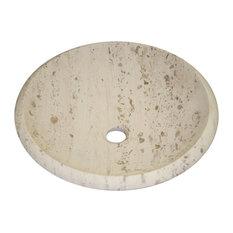 Perlina Limestone Vessel Sink, Circular, Design 9