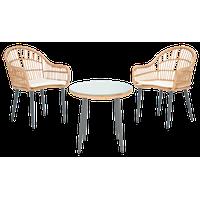 Berlen 3-Piece Lounger Set Natural/Beige