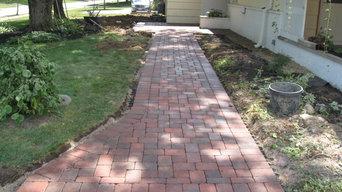 Upper Arlington Ohio paver walk and landscape installation