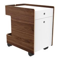 Design Public   Corral Cove Cart, File, Walnut   Filing Cabinets