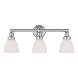 Classic Bath Light, Brushed Nickel