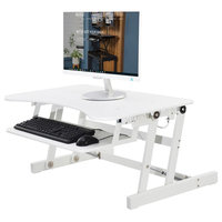"Rocelco EADR Height Adjustable Desk Riser, 32"", White, Without Mat"