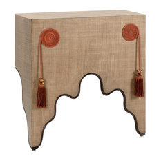 CHELSEA HOUSE DRAPE Console Table Dark Brown Textured Rust Wood