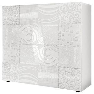 Miro Decorative Highboard, White Gloss