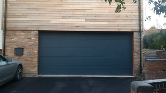 Contemporary Anthracite Grey sectional garage door
