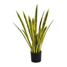 "Artificial Faux Plastic 35"" Tall Snake Plant (Sansevieria)"
