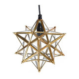 Glass Christmas Star Pendant Light