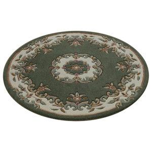Mahal Round Rug, Green, 120 cm Round