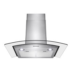 "AKDY 30"" Wall Mount Stainless Steel Button Panel Kitchen Range Hood Cooking Fan"