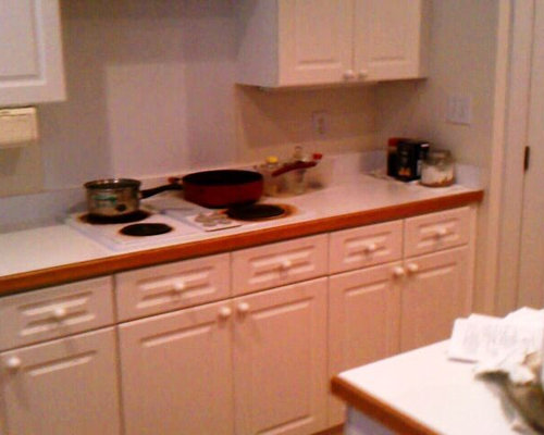 Before Photo. Email Save. Black Pearl Granite  Wonderful With White Cabinets