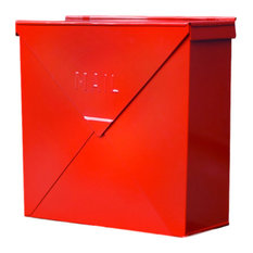 NACH   Chicago Industrial Style Wall Mounted Mailbox, Red   Mailboxes