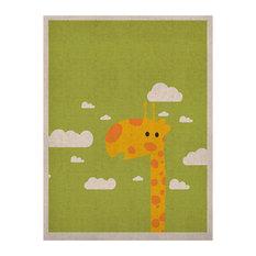 "Strawberringo ""Baby Giraffe"" Naturals Canvas, 24""x36"""