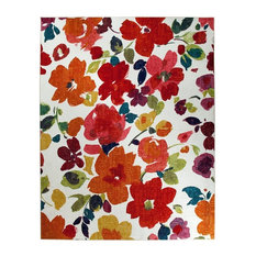 Mohawk - Country & Floral Bright Floral Toss Area Rug, Rectangle, Multi Color, 5'x8' - Area Rugs
