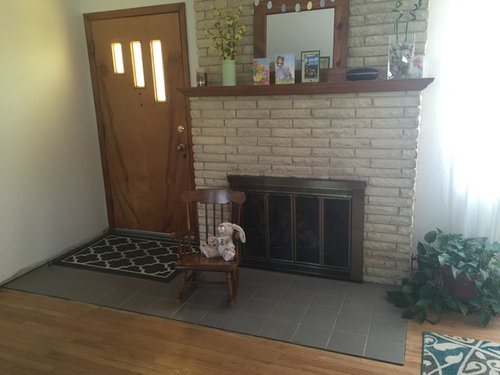 Flooring Suggestions For Front Door Fireplace Combo