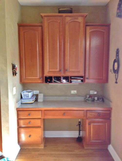 Help in converting kitchen desk into bar Desk Ideas Kitchen Design Cabinets Stagered on