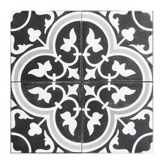 Roseton A Cement Tile, Set of 13, 8x8