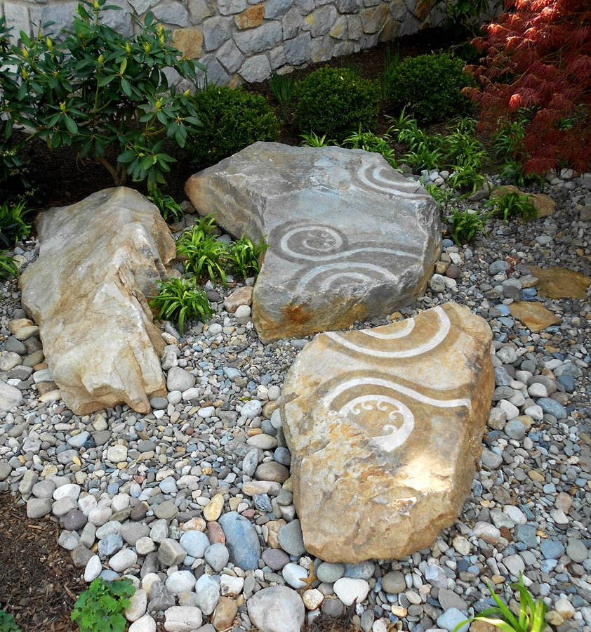 """StoneRock Garden  Landscape Feature: """"Seperated by Time"""" in the rock garden"""