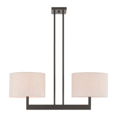 Livex Lighting Hayworth Bronze Light Linear Chandelier