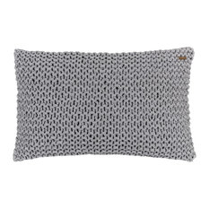 Lena Merino Wool Scatter Cushion Cover, Anthracite, Purl Stitch