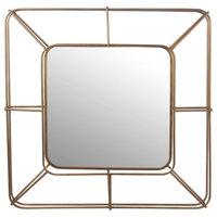 Square Iron Mirror, Beveled Glass