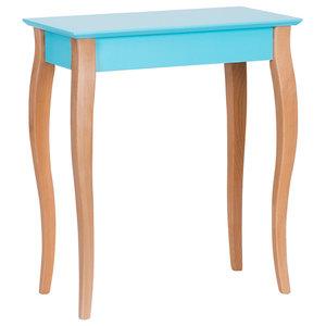 Lilo Small Scandinavian Console Table, Dark Turquoise