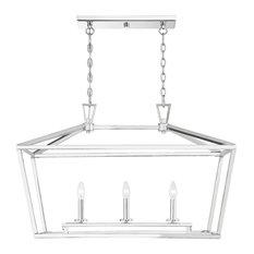 Townsend 3-Light Trestle Chandelier, Polished Nickel