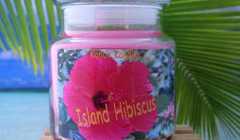 Island Hibiscus 18 oz Tropical Candle Jar
