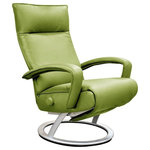 Lafer Recliners - Gaga Recliner Leather Recliner Lafer Recliner Chair, Mint - Gaga Recliner Chair by Lafer Recliners of Brazil is an ergonomic swivel reclining chair.  Modern Lafer Gaga Recliner is a modern leather recliner chair and lounge chair for home or office.   Gaga Recliner Chair by Lafer Recliners Dimensions: