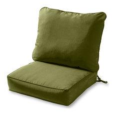 Outdoor 2-pc Deep Seat Cushion Set, Hunter