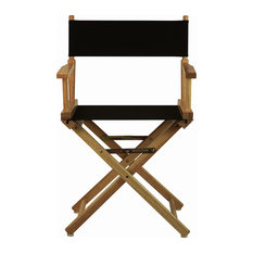 """18"""" Director's Chair With Natural Frame, Black Canvas"""