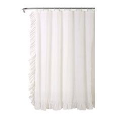 Reyna Shower Curtain White  72x72