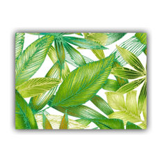 Brazilia Green Indoor/Outdoor Placemats, Finished Edge, Set of 2