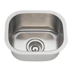 Stainless Steel Bar Sink, 18-Gauge, Sink Only