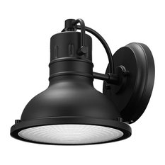 Globe Electric - Harbor 1-Light Matte Black Outdoor Wall Sconce - Outdoor Wall Lights and Sconces